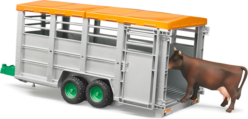 Bruder #02227 Livestock Trailer with Cow - New Factory Sealed