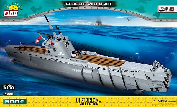 COBI TOYS #4805 German Submarine Type VIIB U-Boat Model Building Set