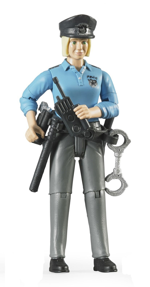 Bruder #60430 Light Skinned Policewoman with Accessories - New Factory Sealed