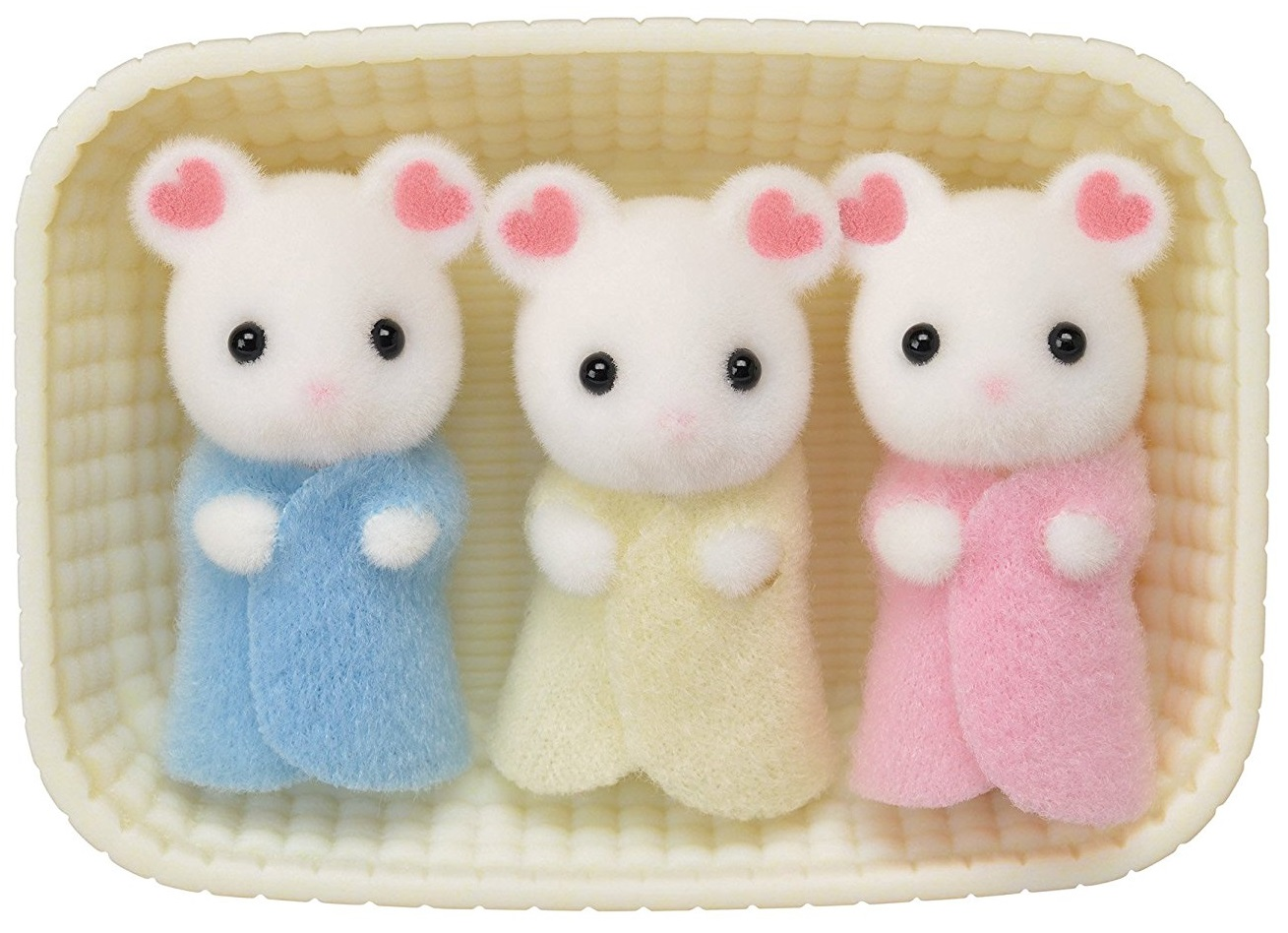 CALICO CRITTERS #CC1806 Marshmallow Mouse Triplets - New Factory Sealed